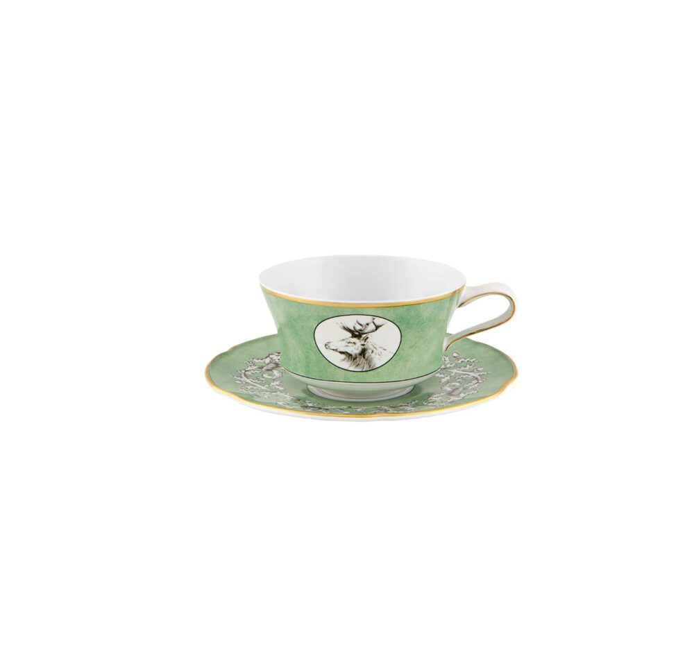 Breakfast cup with saucer