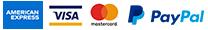 Casa de Alba - Metodos de Pagos Aceptados - American Express - Visa - Mastercard - PayPal
